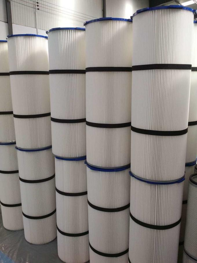 Non Woven Pleated Filter Cartridge Dust Collector Anti Static  High Corrosion Resistance