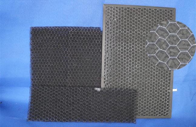 High Air Flow  Activated Carbon Mesh ,  Low Resistance Home Charcoal Filter