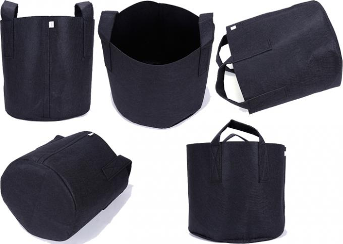 1  - 30 Gallon Black Plastic Breathable Grow Bags  Nursery Planter Support
