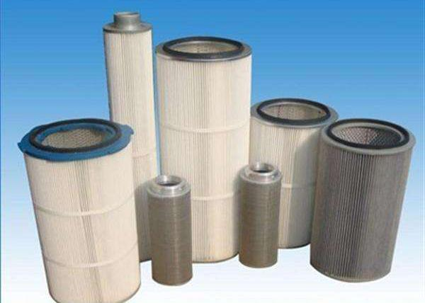 High Efficiency 99% Dust Collector Filter Cartridge , Industrial Cartridge Filters