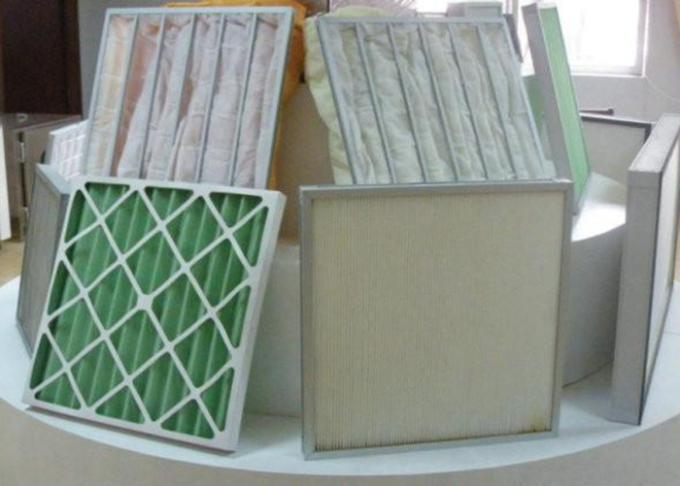 Air Flow Mini Cardboard Air Filter , F7 Paper Frame Pleated Air Conditioner Filters