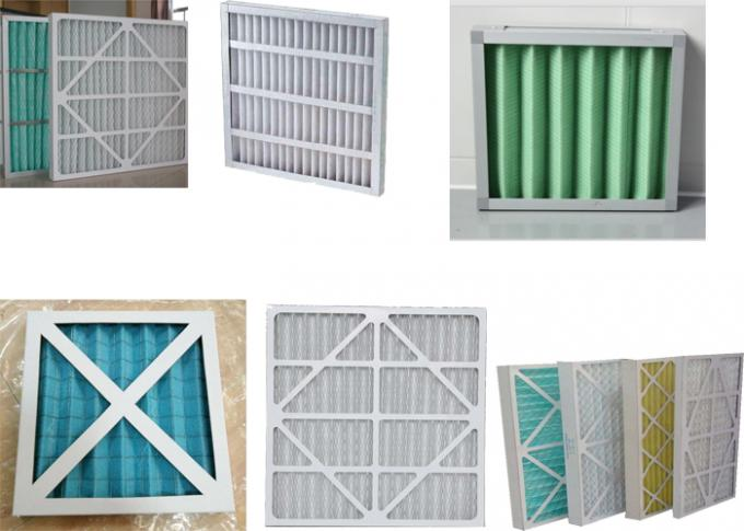 Charcoal Industrial Air Filter Panels G4 -F9 Non Woven Medium Blue White Color