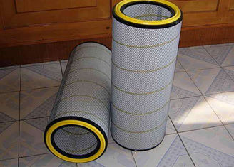 China Cement Silo Dust Collector Filter Cartridge , Standard Size Industrial Cartridge Filters supplier