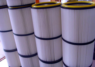 China Non Woven Pleated Filter Cartridge Dust Collector Anti Static  High Corrosion Resistance supplier