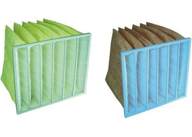 China Medium Efficiency F5 - F9  Pocket Air Filter Synthetic Fiber Material supplier