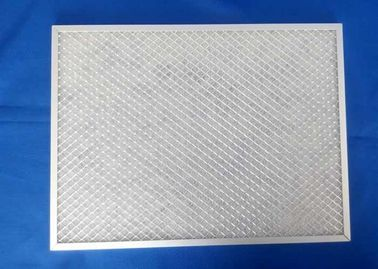 China Preliminary Efficiency Metal Air Filter Frames , White Metal Mesh Air Filters supplier