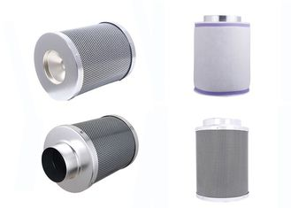 China Light Weight Aluminum Flange  Carbon Canister Air Filter Odor Extraction From Air supplier