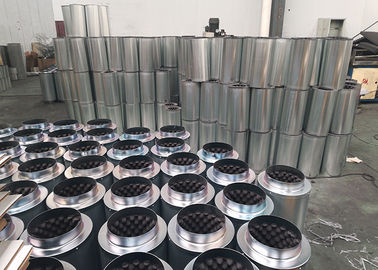 China Galvanized Air Duct Noise Silencer  ,  Silver Noise Reducing 6 inch fan silencer distributor