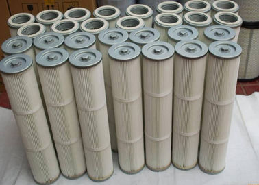 China High Efficiency 99% Dust Collector Filter Cartridge , Industrial Cartridge Filters distributor