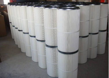 China Industry Dust Collector Cartridge Filter Cleaning With Pleated Filtration Fabric Medium distributor