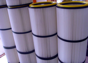 China Non Woven Pleated Filter Cartridge Dust Collector Anti Static  High Corrosion Resistance distributor