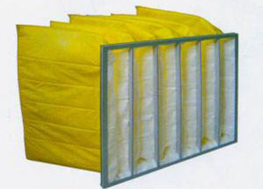 China Air Conditioning  Bag Type Filter  With Fiberglass Pocket  0.3u Porosity distributor