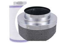 Galvanized Cartridge Carbon Filter Hydroponics  , Silver Greenhouse Carbon Block Filter Cartridge