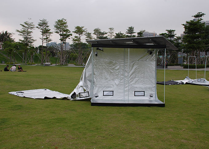 Silver Mylar 600D 210D  Dark Room Tent  100*100*180CM For Indoor Hydroponics Cultivation